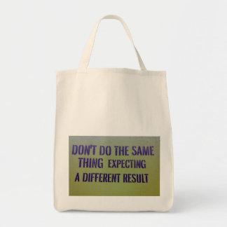 No haga la misma cosa bolsas