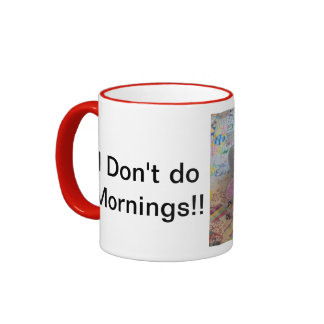 No haga las mañanas. TAZA del gato