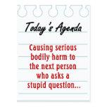 No haga las preguntas estúpidas (2) postal