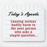 No haga las preguntas estúpidas (2) tapete de ratón