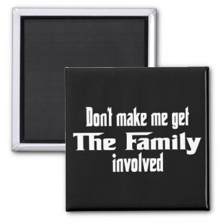 No haga que consigue la familia implicada imán para frigorifico