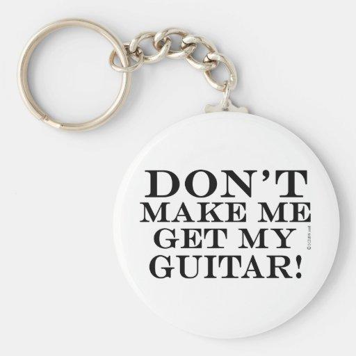 No haga que consigue mi guitarra llavero personalizado