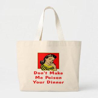 No haga que envenena a su mujer retra de la cena bolsas