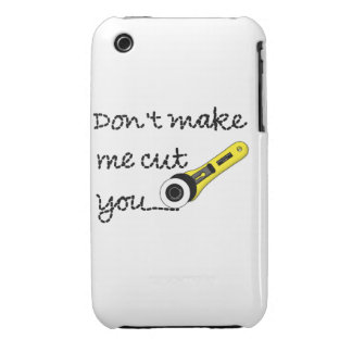 """""""No haga que le corta"""" arte Case-Mate iPhone 3 Fundas"""