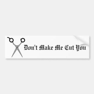 No haga que le corta (el corte del pelo negro Scis Pegatina De Parachoque