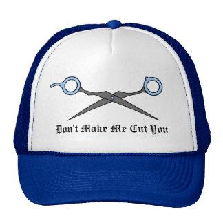 No haga que le corta (las tijeras azules del corte gorra