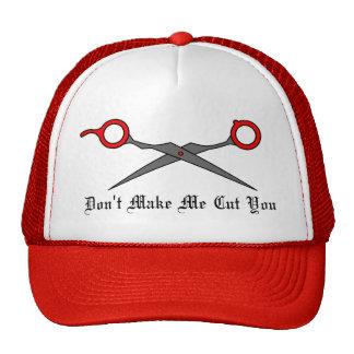 No haga que le corta (las tijeras rojas del corte  gorras