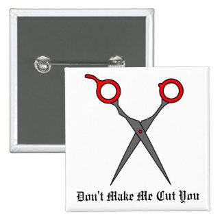 No haga que le corta (las tijeras rojas del corte  pin cuadrada 5 cm