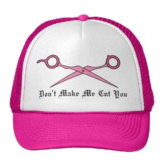 No haga que le corta (las tijeras rosadas del cort gorros