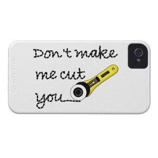 """""""No haga que le corta"""" para hacer la caja del Case-Mate iPhone 4 Protector"""