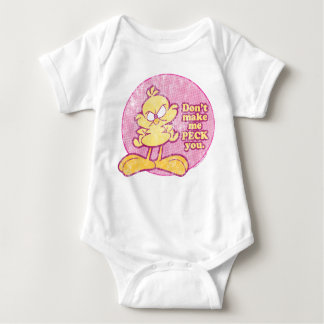 No haga que le picotea enredadera del bebé playeras