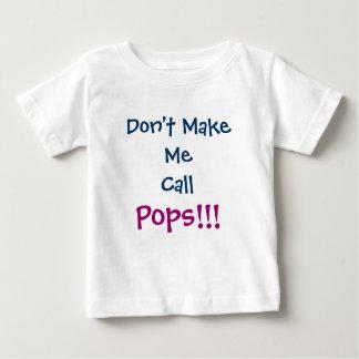 No haga que llama la camiseta del niño del abuelo poleras