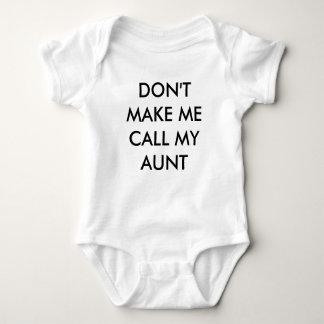 NO HAGA que LLAMA MI enredadera de la TÍA bebé Body Para Bebé