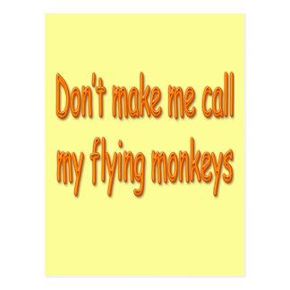 No haga que llama mis monos del vuelo anaranjados tarjeta postal