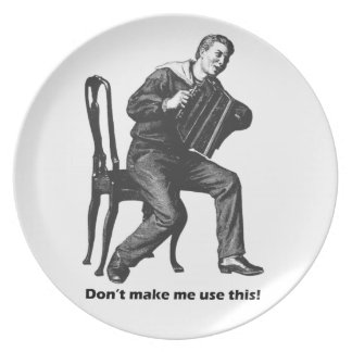 ¡No haga que utiliza esto! (Arte del acordeón del  Plato Para Fiesta