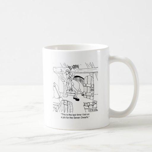 No haga una oferta en trabajos con las puertas de  tazas de café