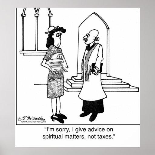No hago consejo sobre impuestos póster