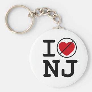 No hago corazón New Jersey Llavero Redondo Tipo Pin