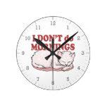 No hago el gato de las mañanas reloj de pared
