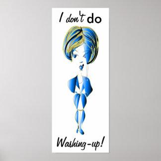 ¡No hago lavado! Poster divertido