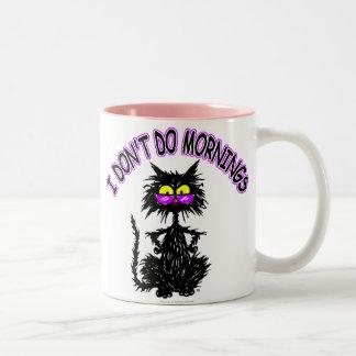 """""""No hago los regalos del gato de las mañanas"""" Taza De Café"""