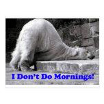 No hago mañanas postal