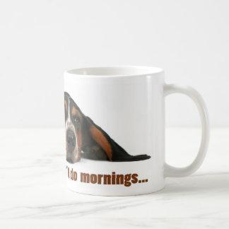 No hago mañanas taza de café