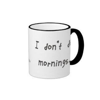 No hago mañanas taza de dos colores