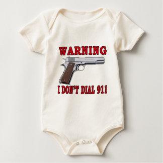 No hago marco 911 mameluco de bebé