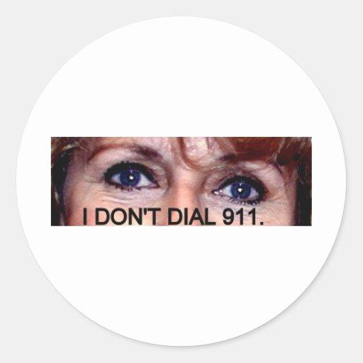 NO HAGO MARCO 911 OJOS PEGATINA REDONDA