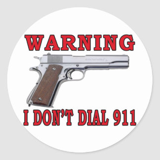 No hago marco 911 pegatina redonda