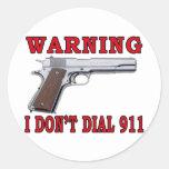 No hago marco 911 pegatinas redondas