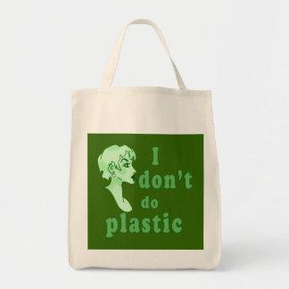 No hago Totebags elegante plástico Bolsa Tela Para La Compra
