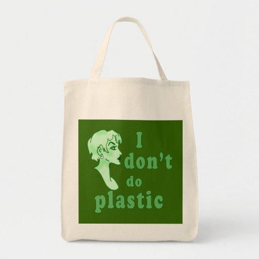 No hago Totebags elegante plástico Bolsas