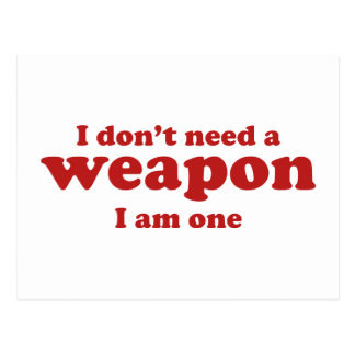 No hago un arma. Soy uno Postal