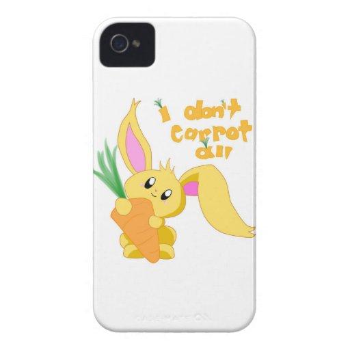 No hago zanahoria toda iPhone 4 Case-Mate cobertura
