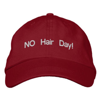 NO Hair Day Chemo Hat Embroidered Hat