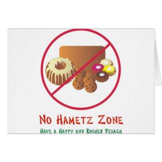 No Hametz Zone Card
