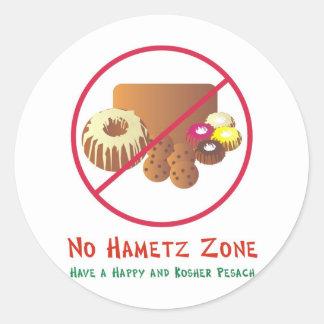 No Hametz Zone Classic Round Sticker