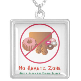 No Hametz Zone necklace