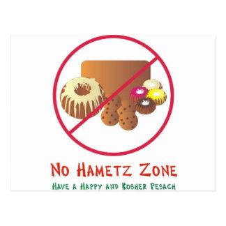 No Hametz Zone Postcard