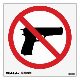No Handguns Wall Decal