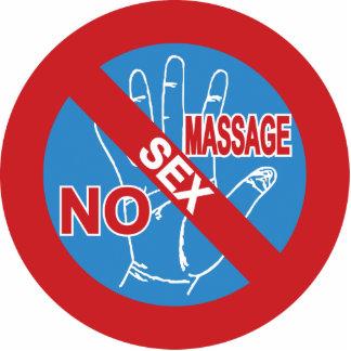 NO Happy Ending Massage ⚠ Thai Sign ⚠ Cutout
