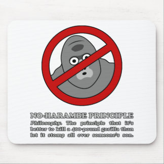 No-Harambe Principle Mouse Pad