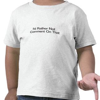 No haría ninguna observación respecto bastante ése camiseta