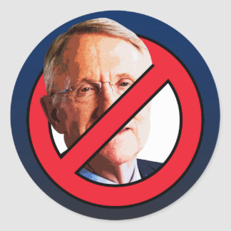 No Harry Reid Classic Round Sticker