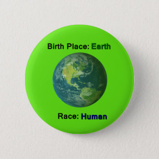 No Hate Human Race Equality Button