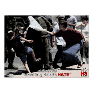 No Hate. Ignorance is stupid. Poster