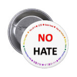 No Hate in Many Languages Pinback Button