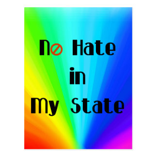 No Hate Love Trumps Hate LGBT Postcard